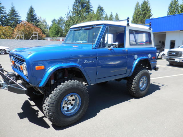 1972 ford bronco 302 4v 4 spd np205 4wpdb ps lifted bright islan blue by em2 for sale photos. Black Bedroom Furniture Sets. Home Design Ideas