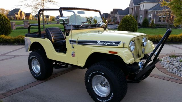 1972 Jeep CJ5 Renegade Excellent Original Steel Body and Matching