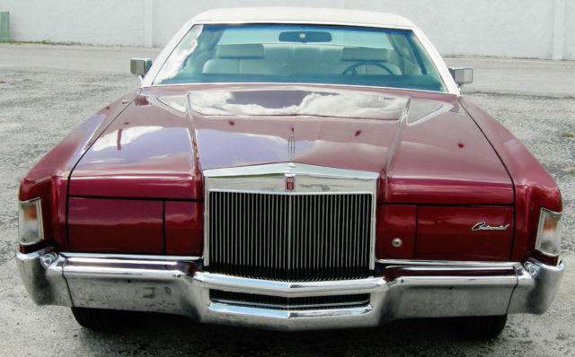 1972 lincoln continental mark iv burgundy    maroon white top runs for sale  photos  technical