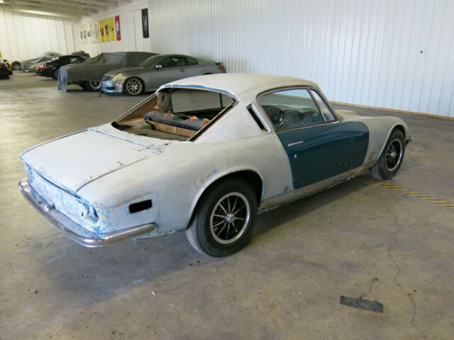 1972 Blue Lotus Elan Plus 2 S130 Coupe Coupe with Black interior