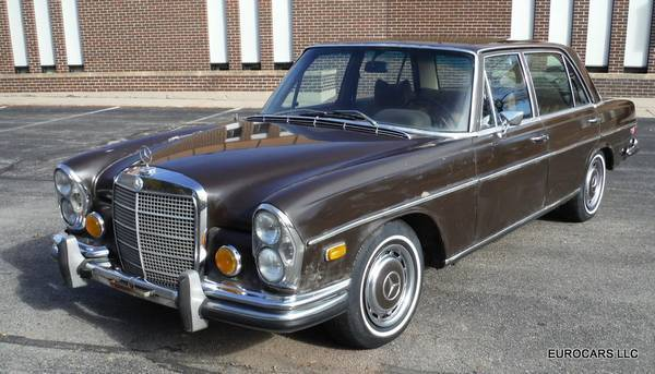 1972 mercedes benz 280 sel 4 5 daily driver for restoration for sale photos technical. Black Bedroom Furniture Sets. Home Design Ideas