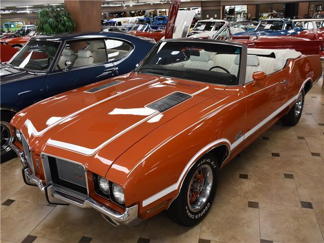 1972 Oldsmobile 442 Air Conditioning Top 0 Miles Flame Orange Convertibl