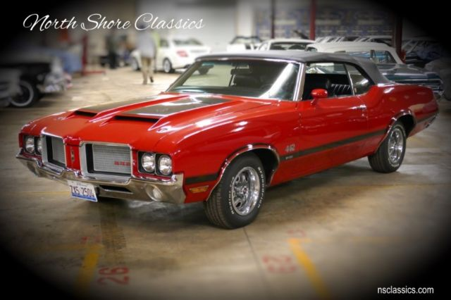 1972 Oldsmobile 442 -W30 CODE CONVERTIBLE- 1 OF 113 EVER BUILT-NUMBERS