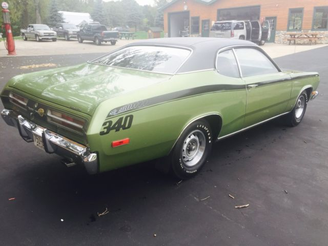 1972 Plymouth Duster Classic Muscle Car For Sale In Mi: 1972 Plymouth Duster 340, All Original, Lots Of Paperwork