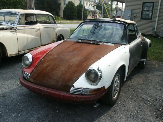1972 Porsche 911 T Targa Restoration Project For Sale Photos