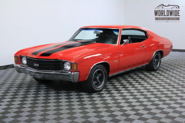 1972 Chevrolet Chevelle RESTORED. CRANBERRY RED 350CI V8 A/C CAR