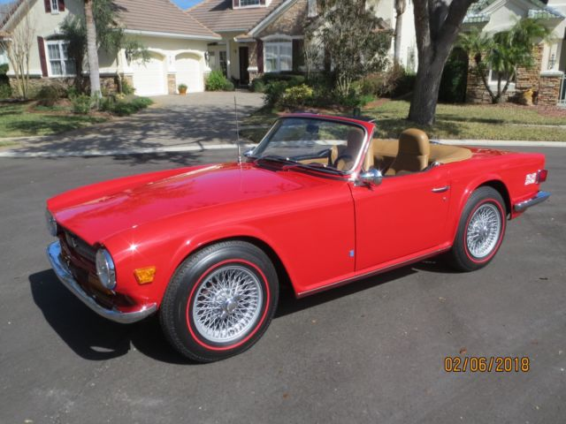 1972 Triumph Tr6 Frame Off Restoration Overdrive For Sale Photos