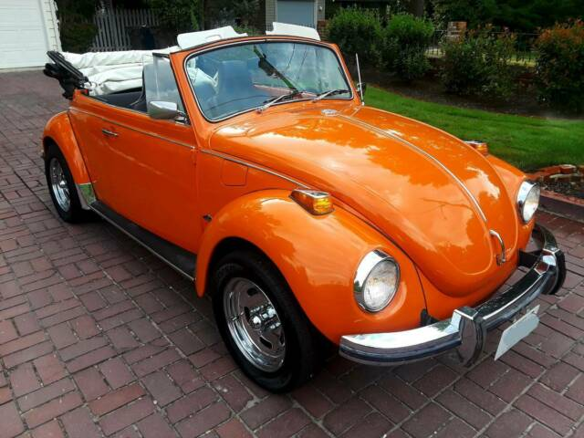 1972 Orange Volkswagen Beetle - Classic Convertible Convertible with Black interior