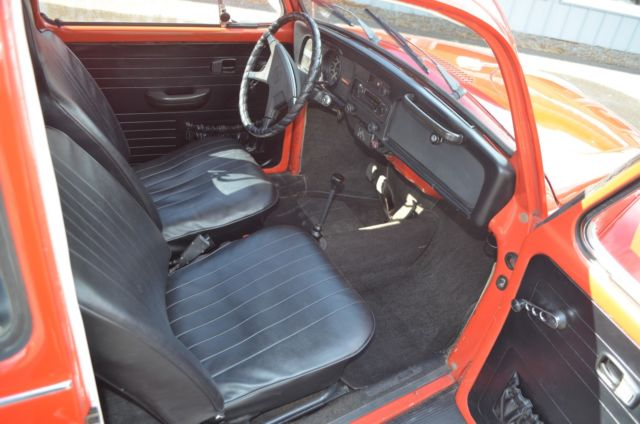 1972 Red Volkswagen Beetle - Classic Coupe with Black interior