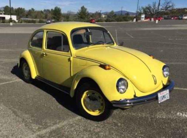 1972 volkswagen super beetle sedan yellow automatic stick shift for sale photos technical. Black Bedroom Furniture Sets. Home Design Ideas