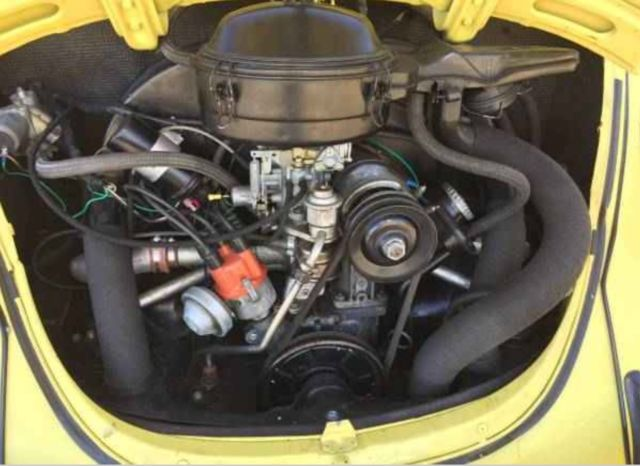 1972 Volkswagen Super Beetle Sedan - Yellow - Automatic Stick Shift for sale: photos, technical ...