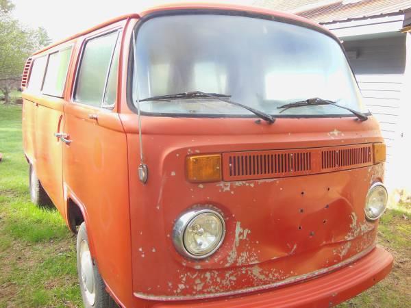 6d0f2a4556 1972 VW TIN TOP CAMPER BUS VAN