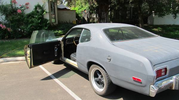 1973 black plymouth duster for sale photos technical specifications descri. Black Bedroom Furniture Sets. Home Design Ideas