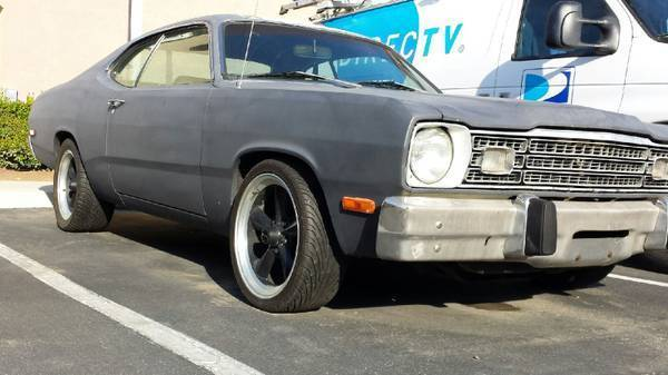 1973 black plymouth duster for sale photos technical. Black Bedroom Furniture Sets. Home Design Ideas
