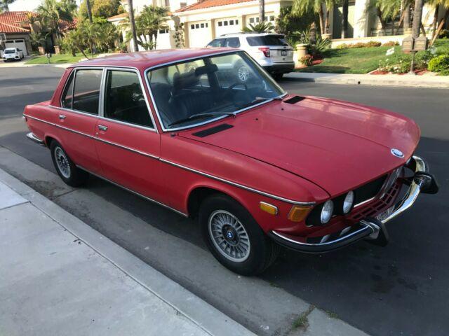 1973 Bmw Bavaria Red With Black Interior 4 Speed Transmission Dual
