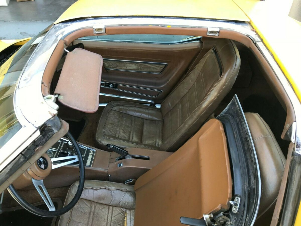 1973 Code 952 Yellow Chevrolet Corvette L82 Coupe with Code 422 Dark Saddle interior