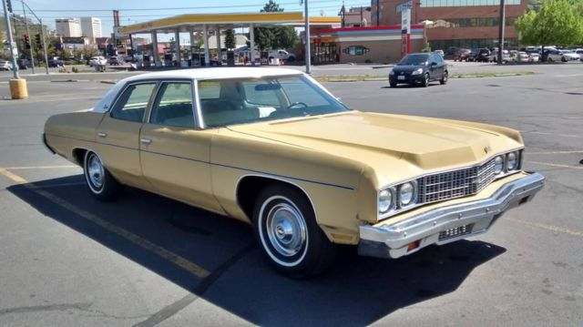 1973 chevrolet impala 4 door sedan for sale photos technical specifications description. Black Bedroom Furniture Sets. Home Design Ideas