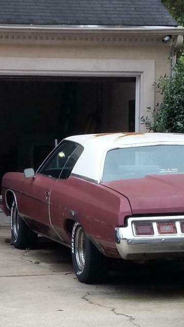 1973 Burgundy Chevrolet Impala Coupe with Black interior