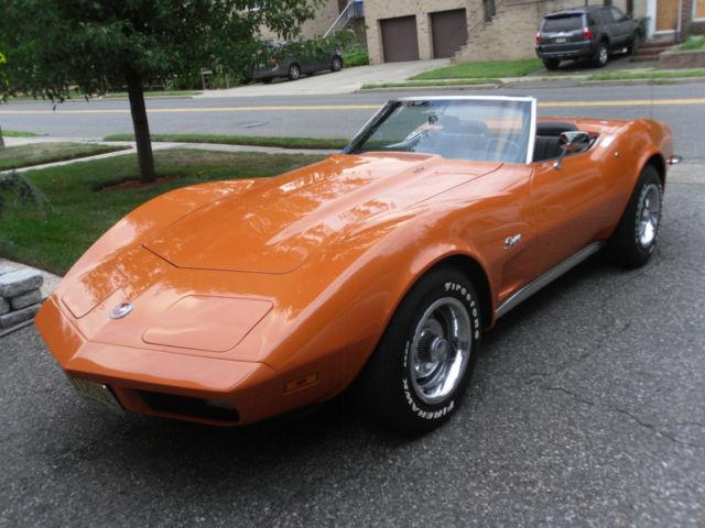1973 Corvette Convertible 454 Big Block 4 Speed Manual