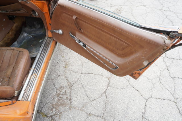 1973 Orange Chevrolet Corvette Convertible with Brown interior