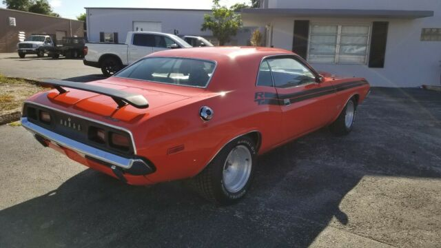 1973 Hemi-Orange Dodge Challenger Rallye Coupe with Black interior