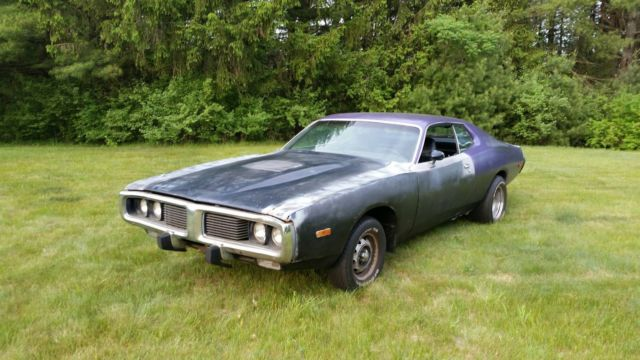 1973 Dodge Charger with 1971 air grabber hood for sale photos