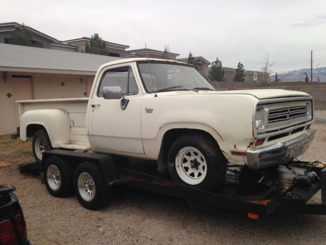 1973 Dodge D100 Step Side Barn Find Project For Sale