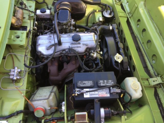 1973 Green Ford Courier Standard Cab Pickup with Green interior