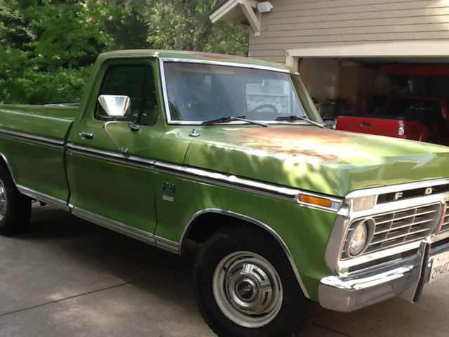 Ford F250 8 Foot Bed For Sale >> 1973 Ford F-250 XLT Camper Special for sale: photos