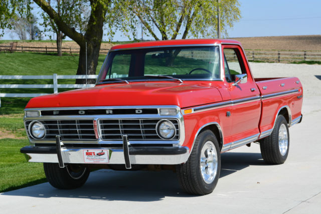 1973 ford f100 ranger xlt short bed pickup 390 auto for sale photos technical specifications. Black Bedroom Furniture Sets. Home Design Ideas