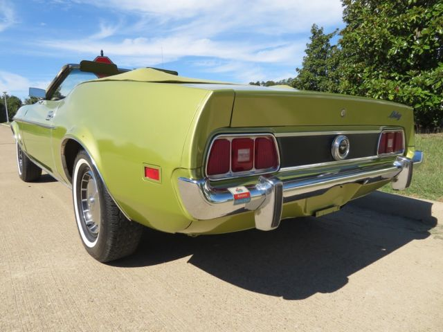 1973 Green Ford Mustang Convertible Convertible with Green interior