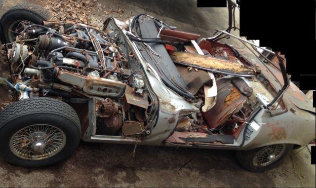 1973 Jaguar E TYpe Convertible Parts Car