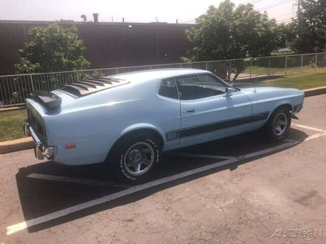 1973 Blue Ford Mustang with Black interior