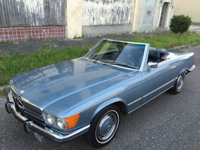 1973 Mercedes Benz 450sl Roadster W107 Grey Blue Metallic 114k Rust Free
