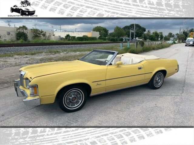 1973 Mercury Cougar 2dr Cpe XR7 501 Miles Yellow  351 engine Automatic