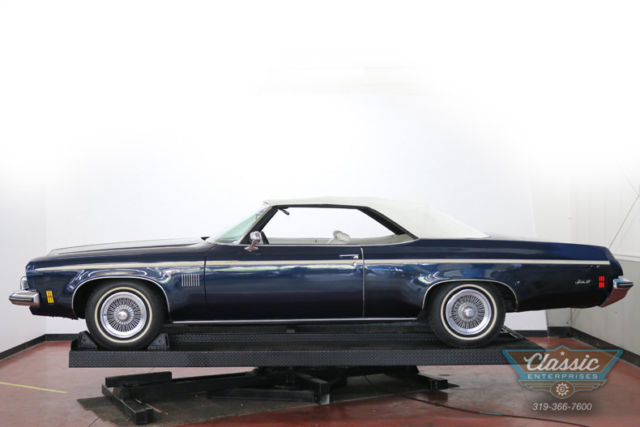 1973 Blue Oldsmobile Eighty-Eight Royal Convertible -- with White interior
