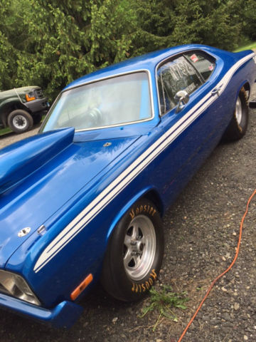 1973 Blue Plymouth Duster U/K with tin interior