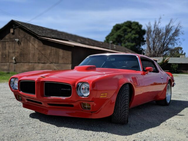 1973 Red Pontiac Trans Am Coupe with Black interior
