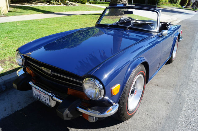 1973 Triumph TR-6 CONVERTIBLE WITH RARE FACTORY OVERDRIVE OPTION!!