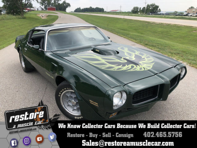 1973 Pontiac Trans Am - Brewster Green 455 Automatic, PHS Documented