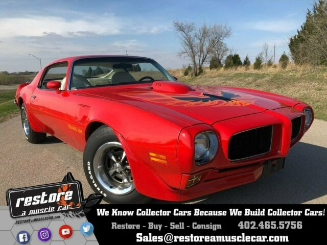 1973 Pontiac Trans Am Red 455 - 4 Speed, Numbers Matching, Restored