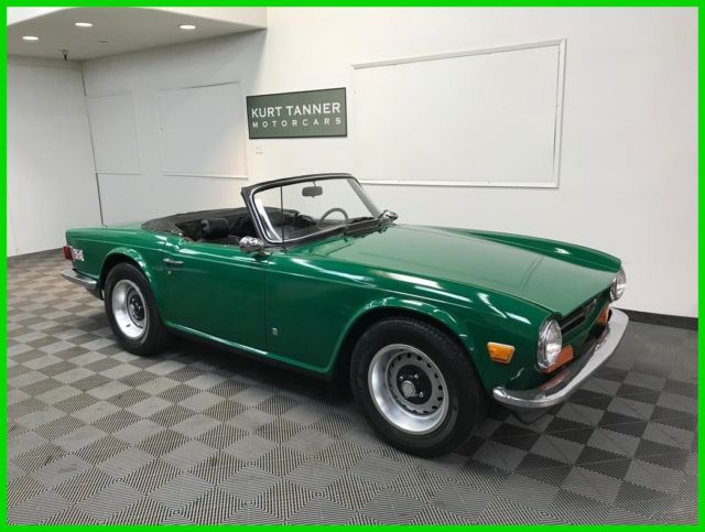 1973 Triumph TR-6 BLACK TRIM AND WEATHER EQUIPMENT. 4-SPEED.