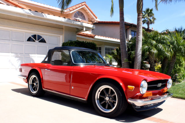 1973 Red Triumph TR-6  Convertible, Classic, Great Driver, No Reserve ** Convertible with Black interior