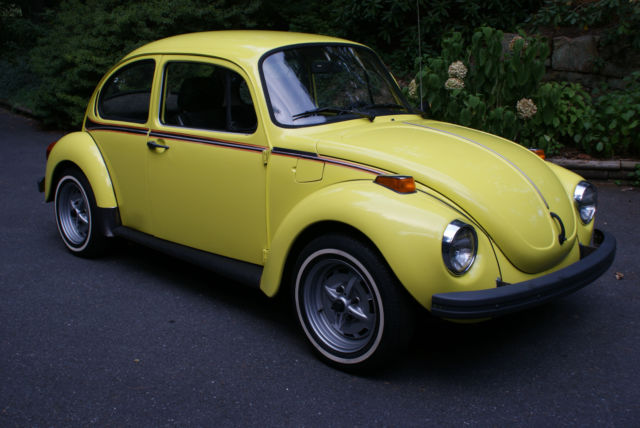1973 volkswagen beetle classic special edition super beetle yellow sports bug for sale photos. Black Bedroom Furniture Sets. Home Design Ideas