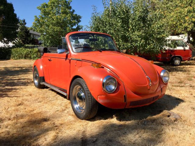 1973 volkswagen bug convertible beetle excellent runner many