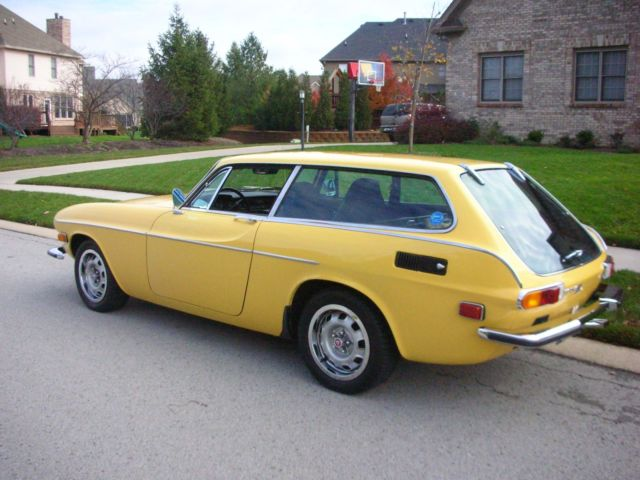 1973 Yellow Volvo P1800ES Wagon with Black interior