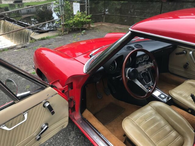 1974 Red Alfa Romeo Spider Convertible with Tan interior