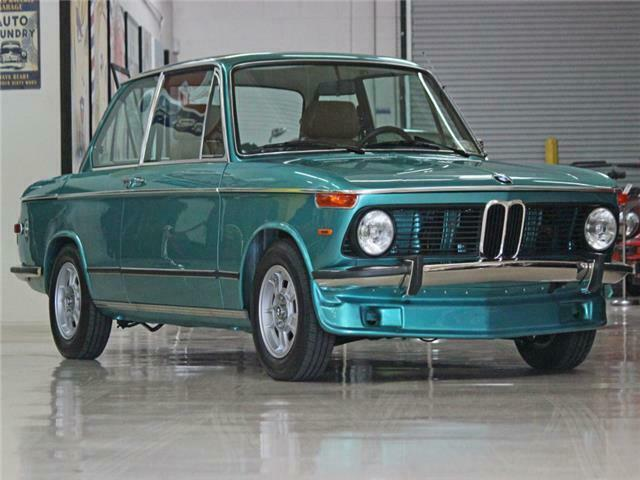 1974 Green BMW 2002 -- with Tan interior