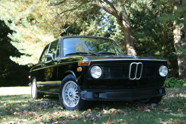 1974 BMW 2002 Factory Black Rust Free Rebuilt M10 Motor With E12 Head