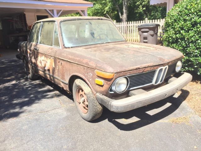 1974 BMW 2002 Parts Car M10 Engine 4 Spd Transmission A C